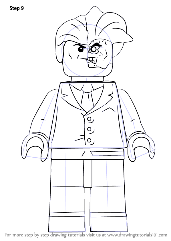 Learn How to Draw Lego TwoFace