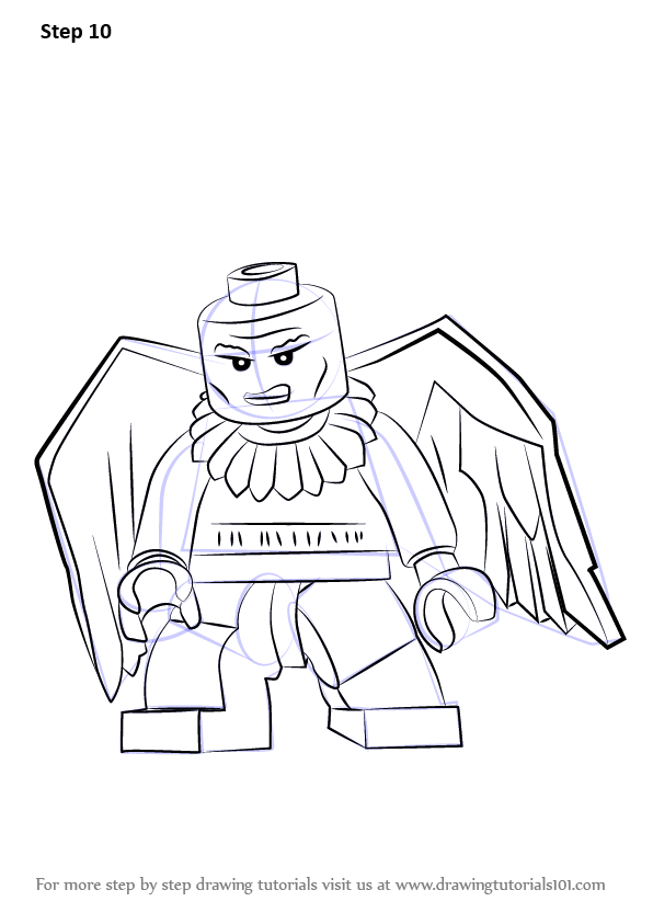 Learn How To Draw Lego Vulture Lego Step By Step