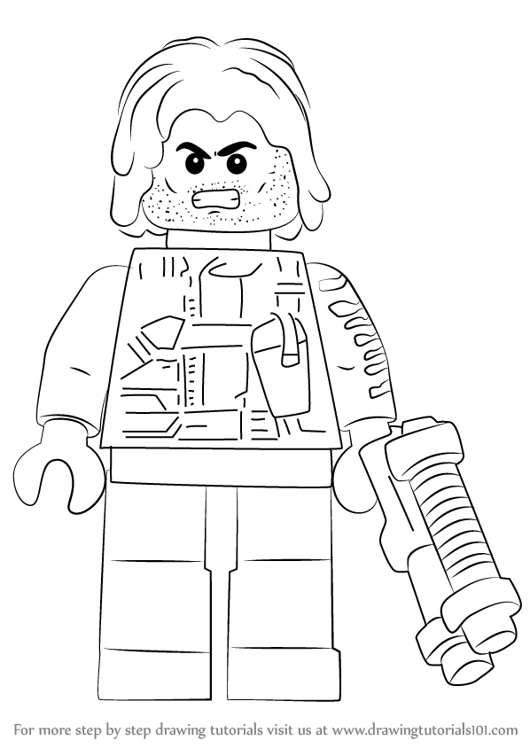Learn How to Draw Lego Winter Soldier