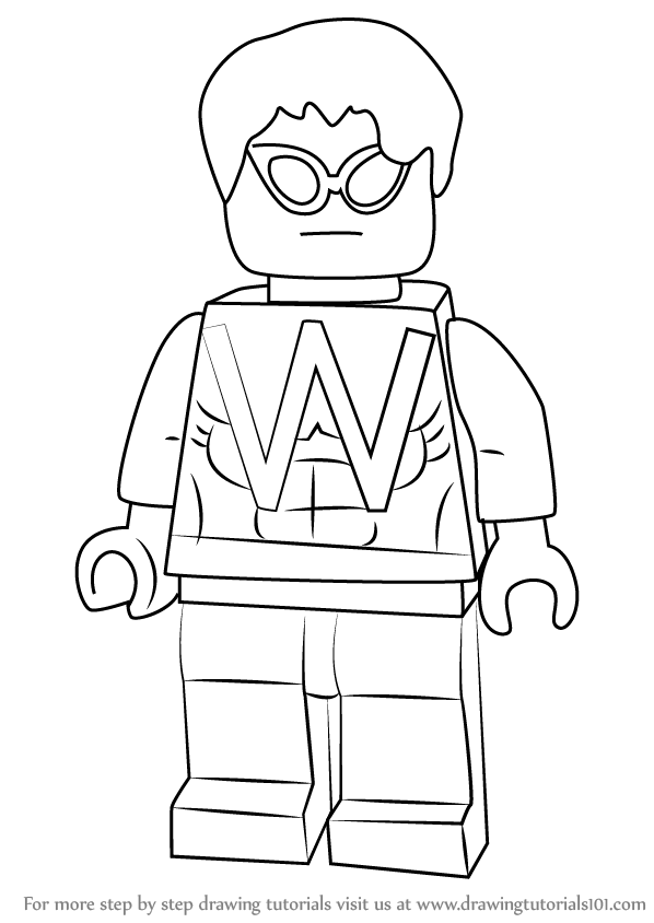 Learn How to Draw Lego Wonder Man