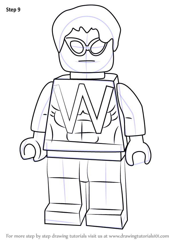Learn How To Draw Lego Wonder Man Lego Step By Step