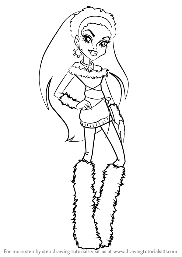 easy monster high coloring pages - photo#22