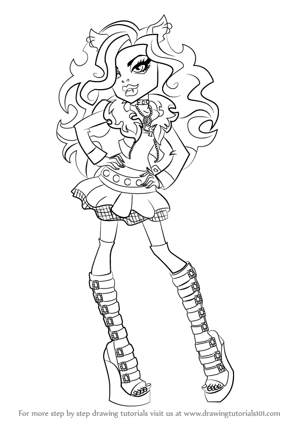 Learn How To Draw Clawdeen Wolf From Monster High Monster High