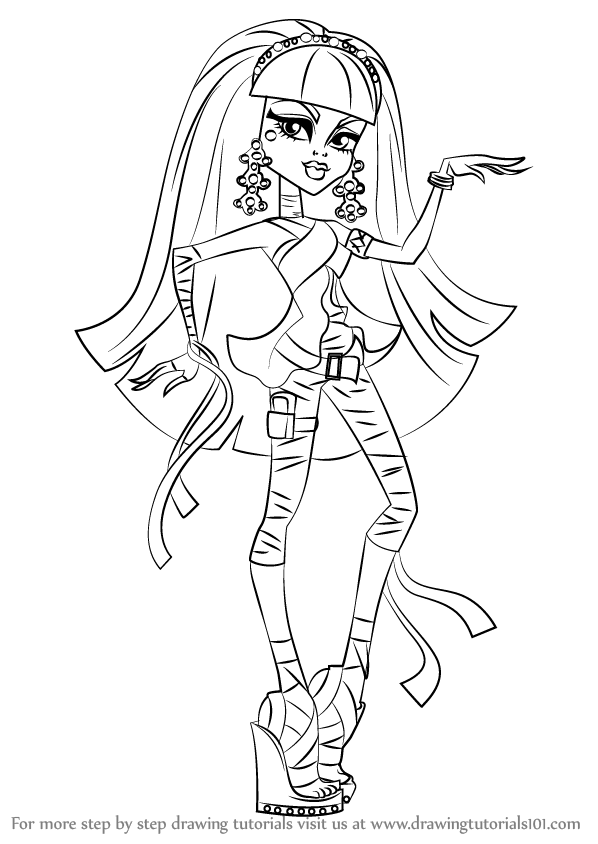 learn how to draw cleo de nile from monster high monster