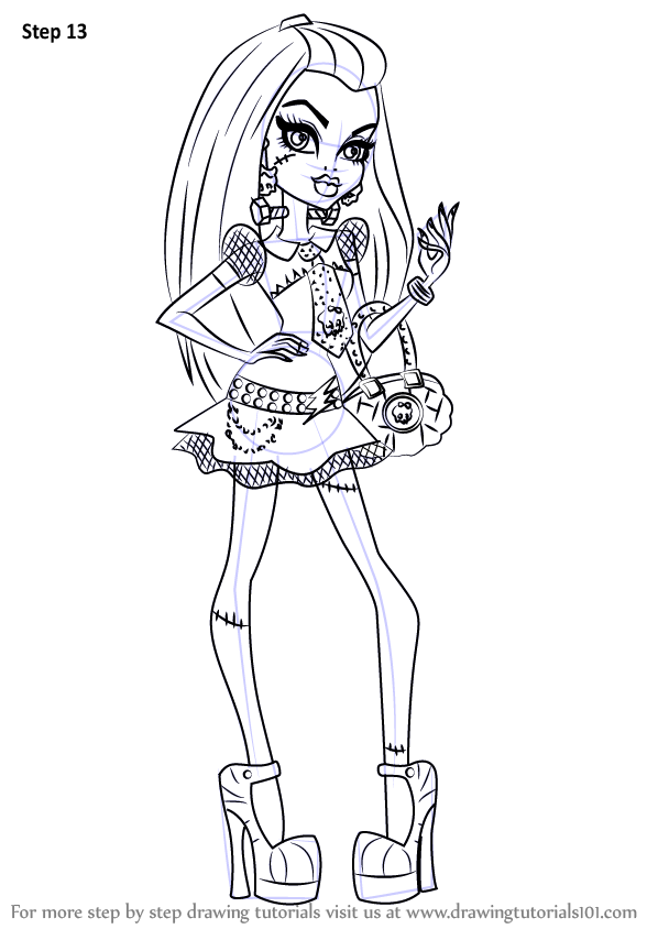 Learn How To Draw Frankie Stein From Monster High Monster