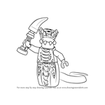 How to Draw Acidicus from Ninjago