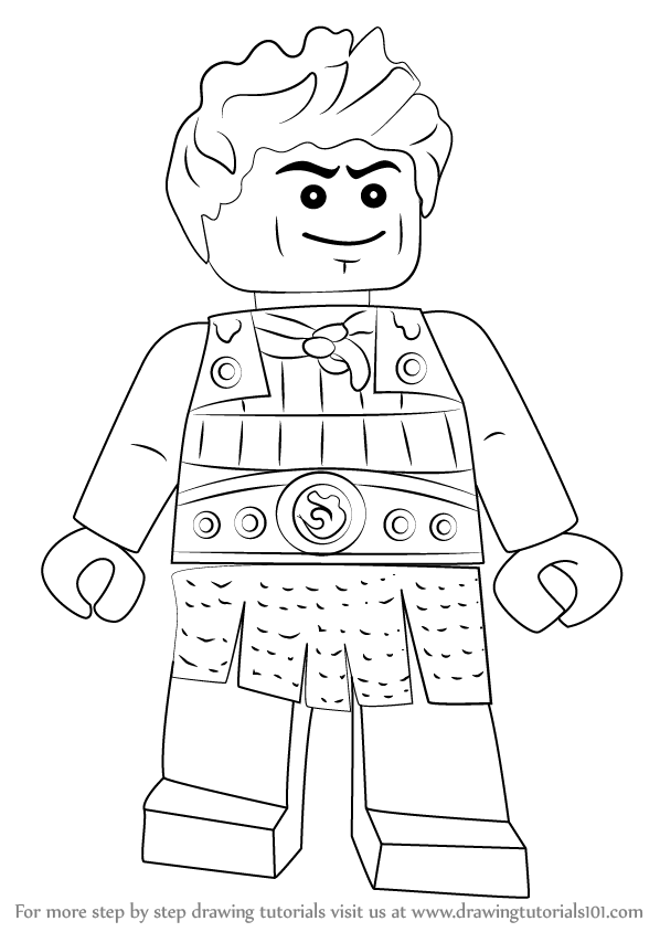 Learn How To Draw Ash From Ninjago Ninjago Step By Step