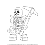 How to Draw Bonezai from Ninjago