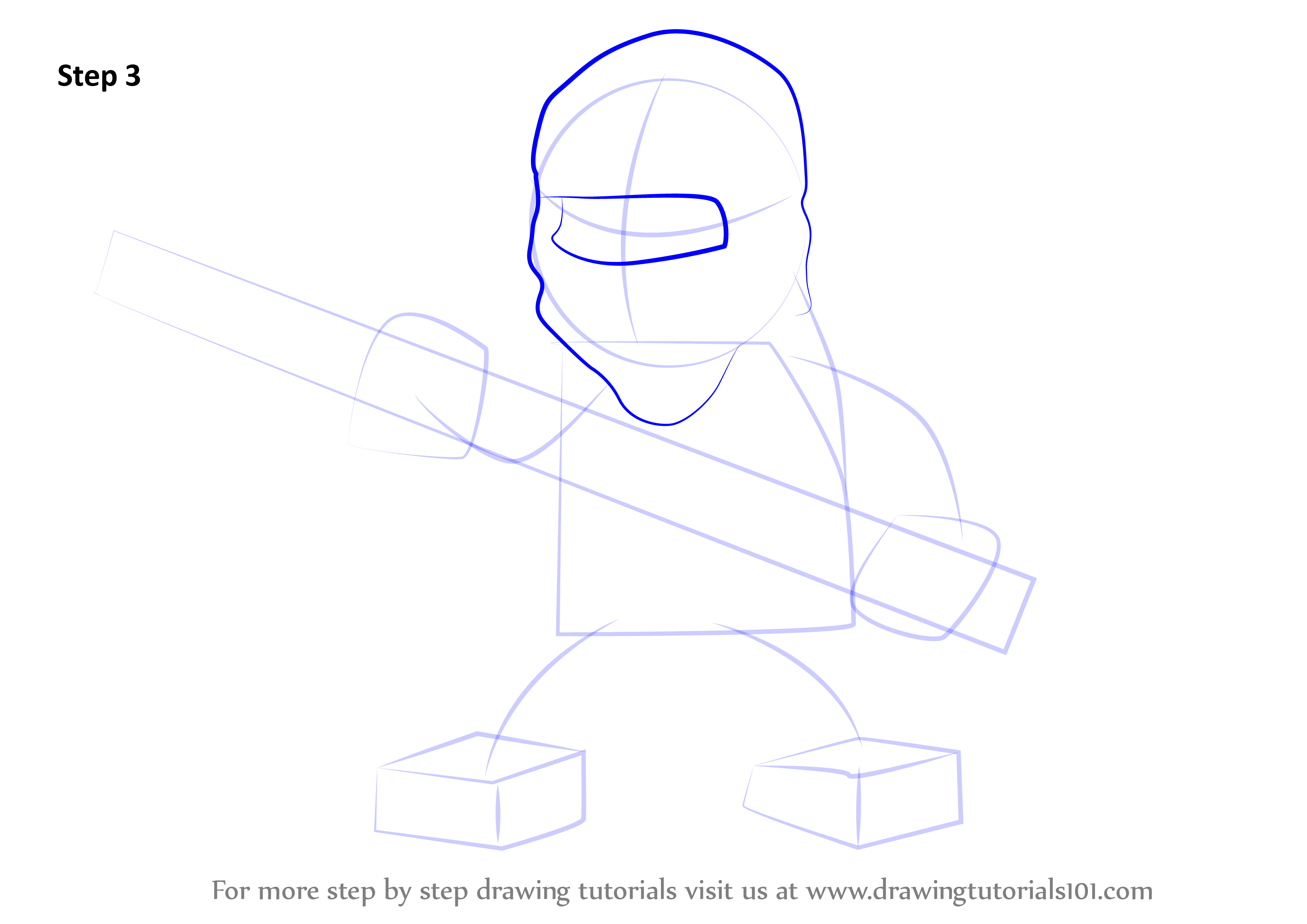 Learn How To Draw Cole From Ninjago Ninjago Step By Step