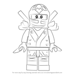 How to Draw Dark Samurai from Ninjago