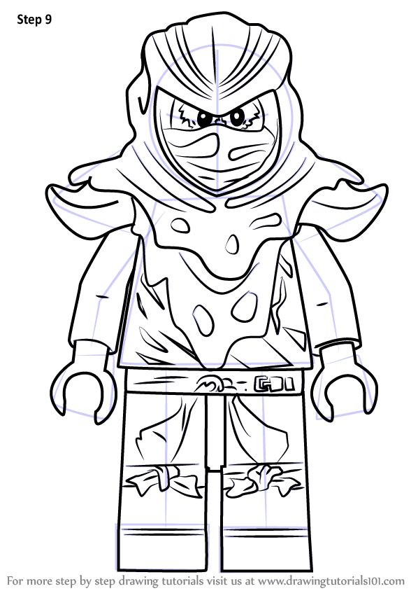 Learn how to draw evil green ninja from ninjago ninjago for Ninjago green ninja coloring pages