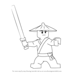 How to Draw First Spinjitzu Master from Ninjago