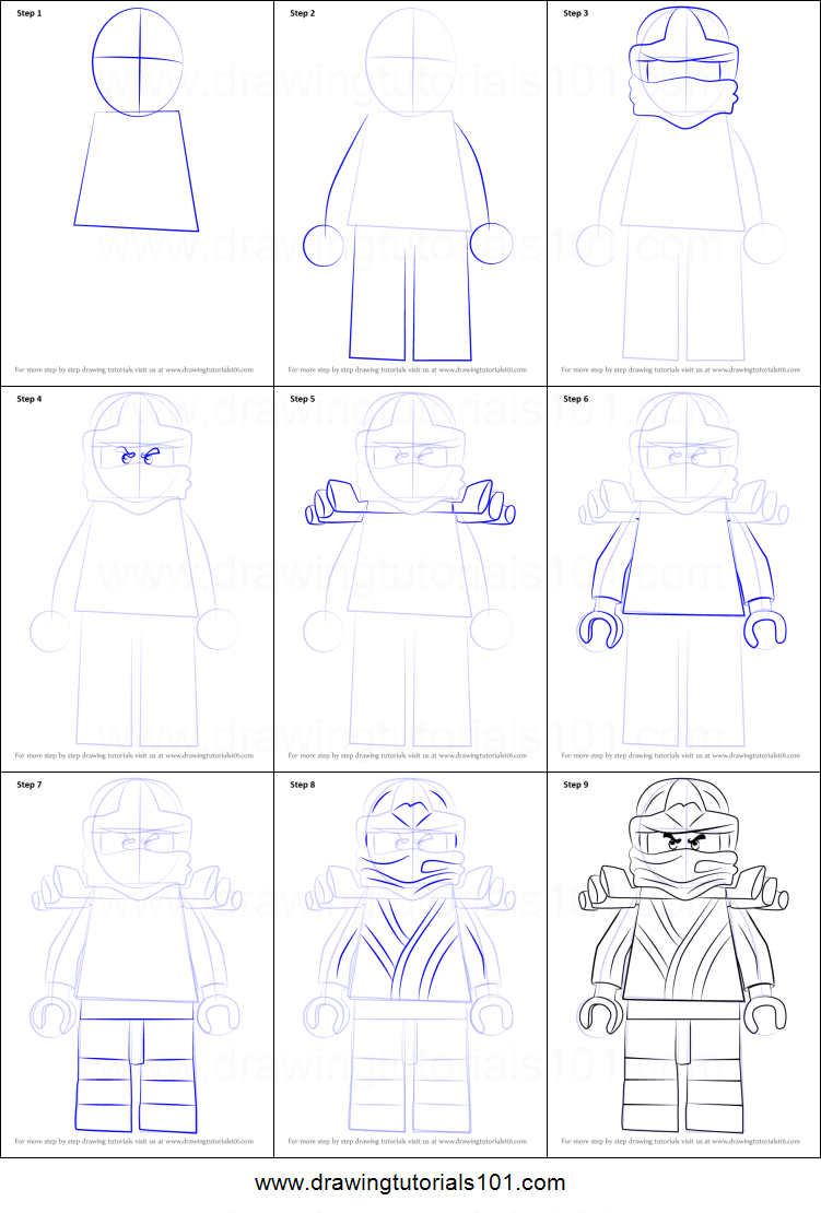 How To Draw Golden Ninja From Ninjago Printable Step By Step Drawing