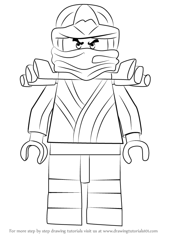 Learn how to draw golden ninja from ninjago ninjago step by step drawing tutorials