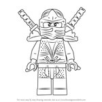 How to Draw Green Ninja from Ninjago