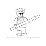 How to Draw Griffin Turner from Ninjago