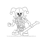 How to Draw Krazi from Ninjago