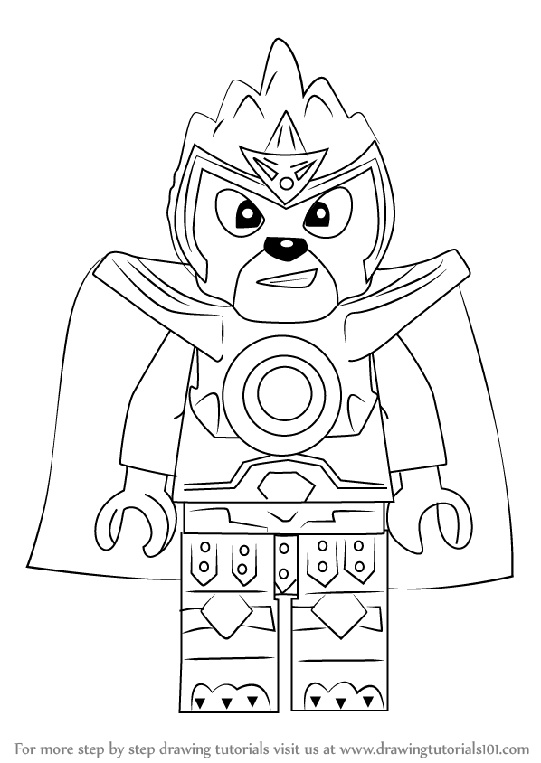 Learn How To Draw Laval From Ninjago Ninjago Step By