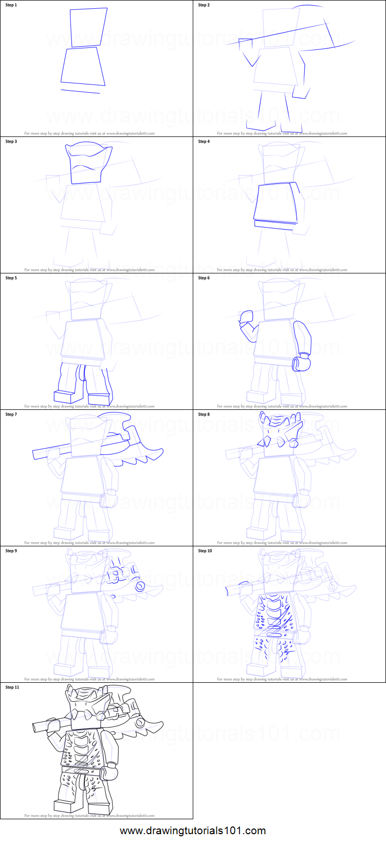 How To Draw Lizaru From Ninjago
