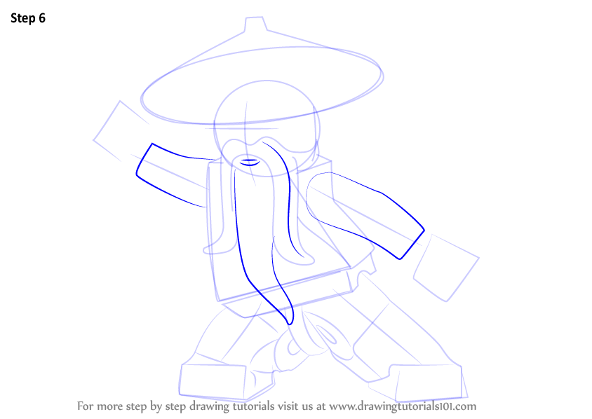 Learn How To Draw Master Wu From Ninjago Ninjago Step By