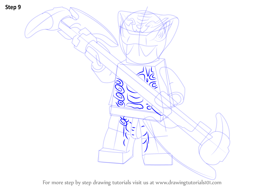 how to draw lego ninjago step by step