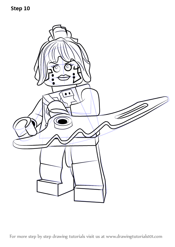 Learn How To Draw P I X A L From Ninjago Ninjago Step By Step Drawing Tutorials