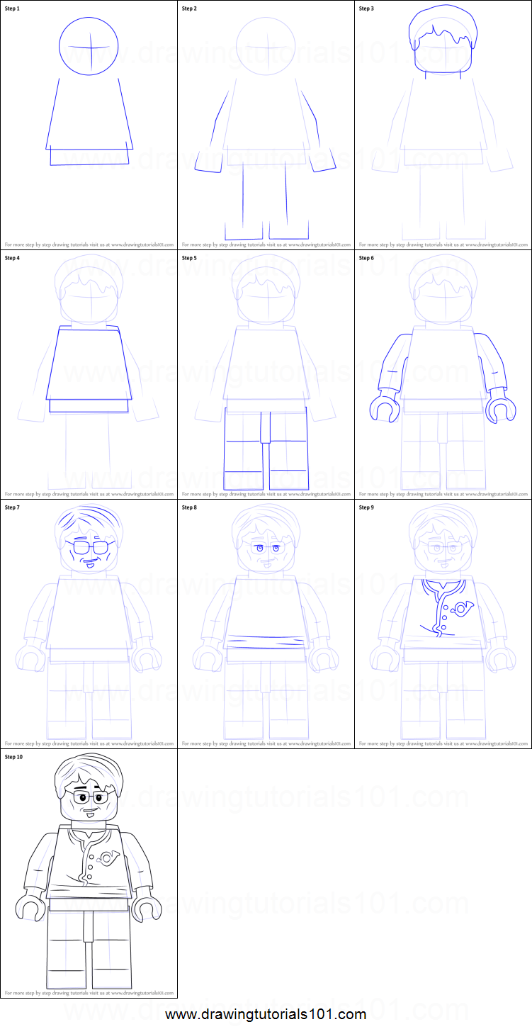 How To Draw Postman From Ninjago