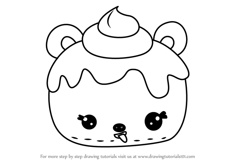 Learn How To Draw Betsy Bubblegum From Num Noms Num Noms Step By