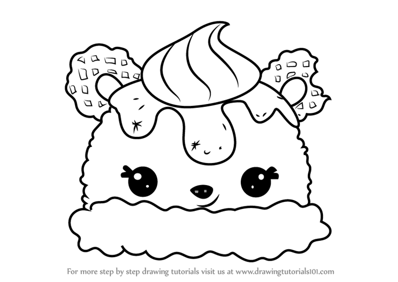 Learn how to draw billy banana from num noms num noms for Num noms coloring pages free