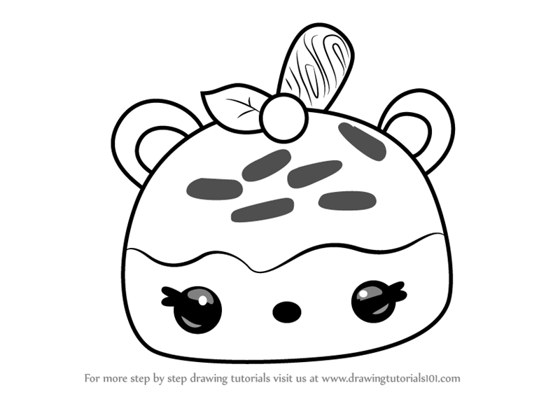 Step by Step How to Draw Caramel StampIt from Num Noms