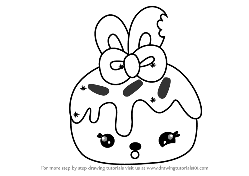 Learn How To Draw Cheery Cherie From Num Noms Num Noms Step By