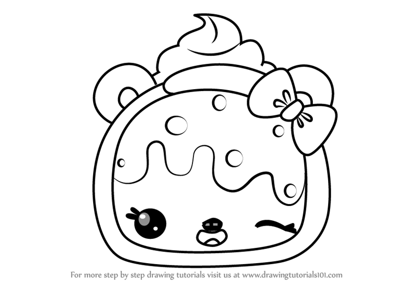 Learn How To Draw Cheesy Burrito From Num Noms Num Noms Step By Step Drawing Tutorials