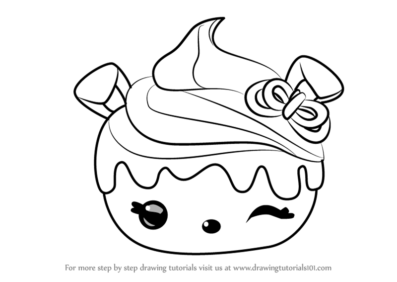 Learn how to draw cherry cheesecake from num noms num for Num noms coloring pages
