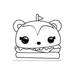 How to Draw Hammy Burger from Num Noms