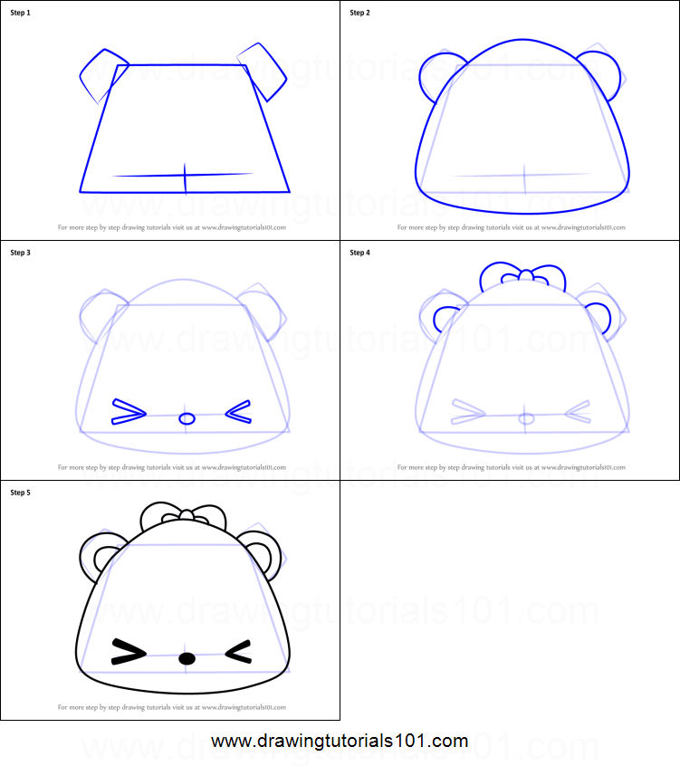 How To Draw Mango Jelly Go Go From Num Noms Printable Step By Step