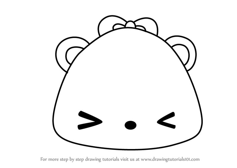 Learn How To Draw Mango Jelly Go Go From Num Noms Num Noms Step By