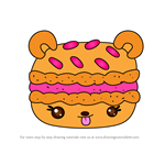 How to Draw Mango Macaron from Num Noms