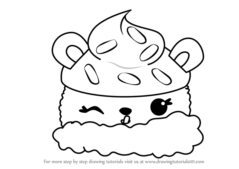 Learn How To Draw Nana Berry From Num Noms Num Noms Step By Step
