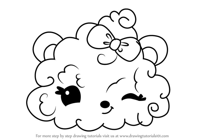 - Learn How To Draw Nana Puffs From Num Noms (Num Noms) Step By Step :  Drawing Tutorials
