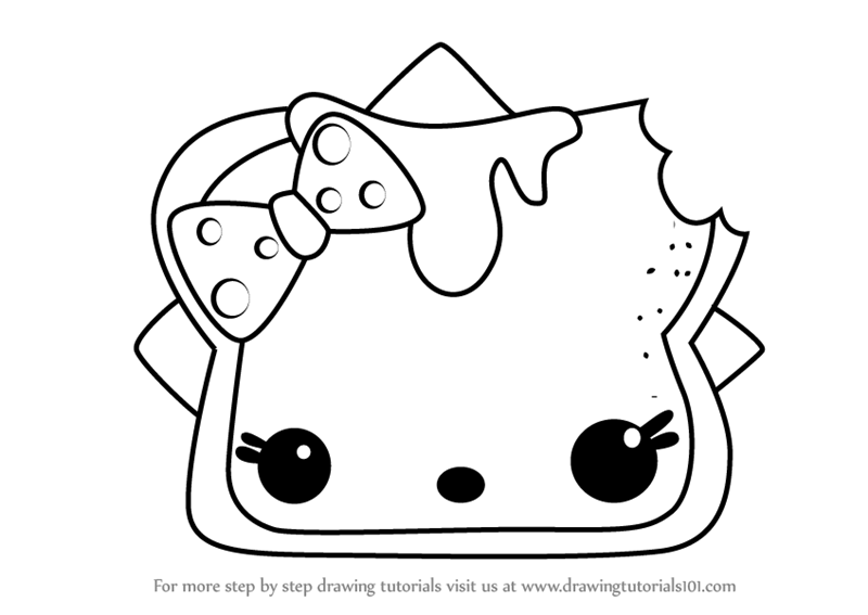 Learn How To Draw P B N J From Num Noms Num Noms Step By Step
