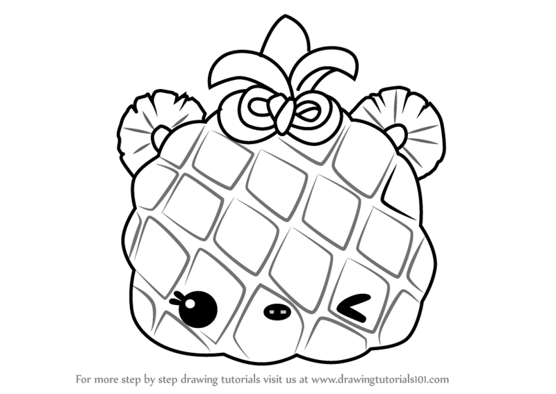 Learn How To Draw Piney Apple From Num Noms (Num Noms) Step By Step :  Drawing Tutorials