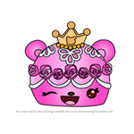 How to Draw Princess Buttercream from Num Noms