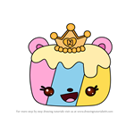 How to Draw Princess C.C. Jelly Roll from Num Noms