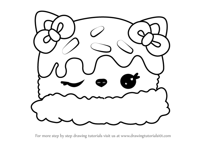 Learn How To Draw Sara Strawberry From Num Noms Num Noms Step By