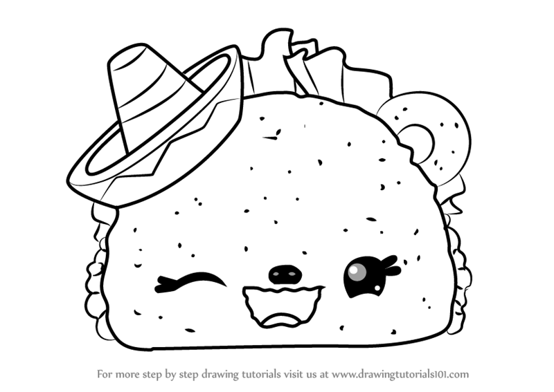 Cute Taco Pages Coloring Pages