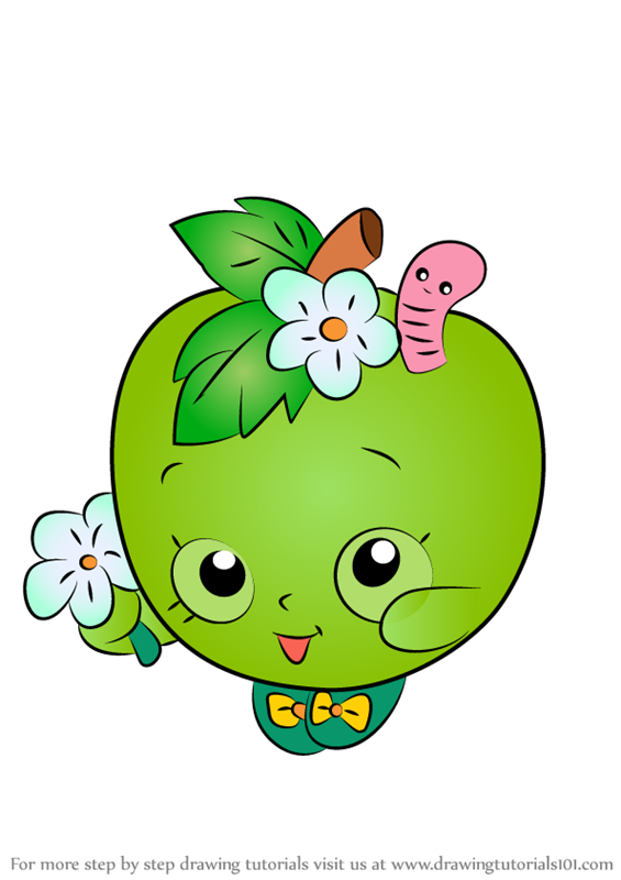 Learn How To Draw Apple Blossom From Shopkins Shopkins