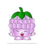 How to Draw Asbury Raspberry from Shopkins