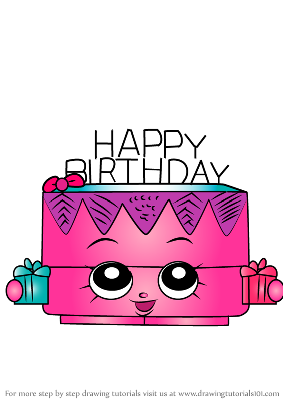 Step By How To Draw Birthday Betty From Shopkins DrawingTutorials101