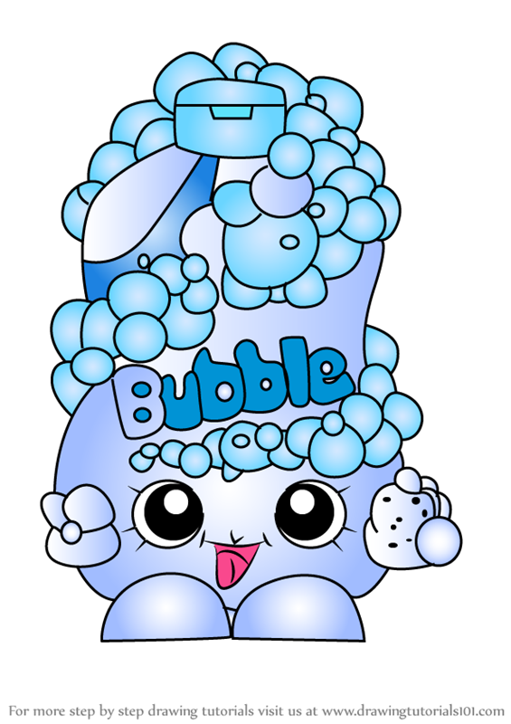 Learn How to Draw Bubble Tubs from Shopkins (Shopkins) Step by Step ...