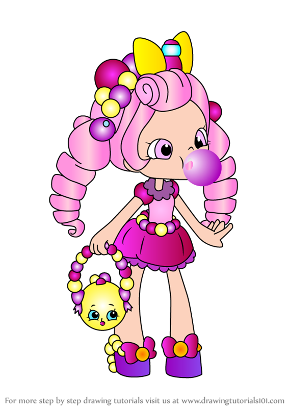 shopkins shoppies dolls coloring pages - photo#26